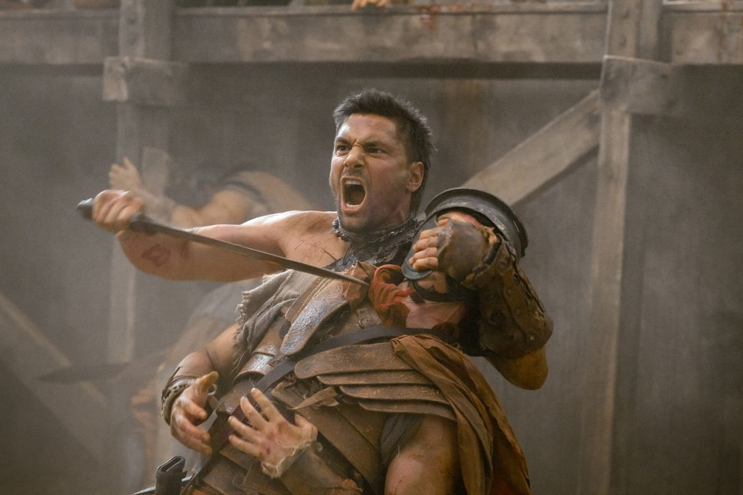 Lehrt die Römer das Fürchten: Crixus (Manu Bennett) ... - Bildquelle: 2011 Starz Entertainment, LLC. All rights reserved.