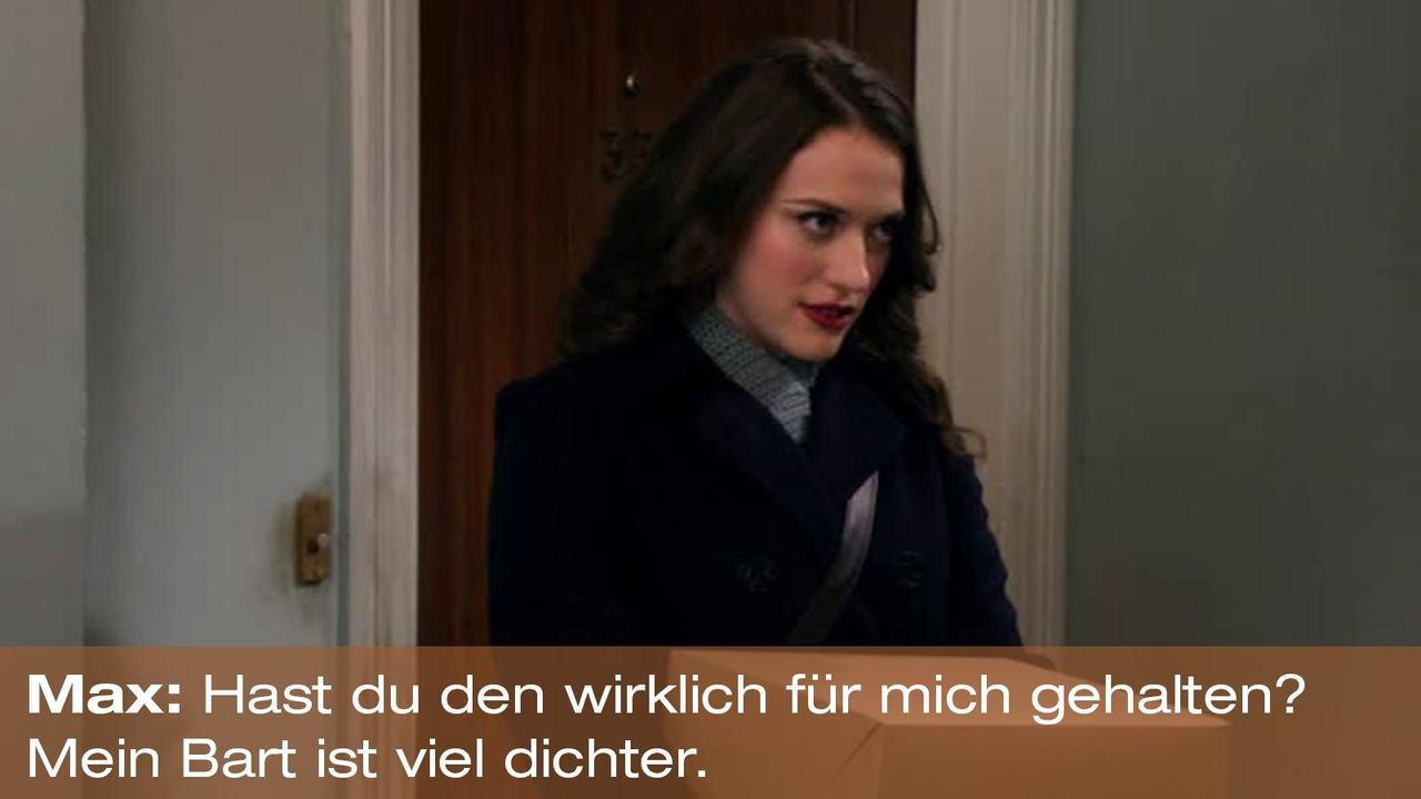 2-broke-girls-zitat-quote-staffel2-episode12-breite-weihnachten-max-bart-warnerpng 1600 x 900 - Bildquelle: Warner Bros. International Television