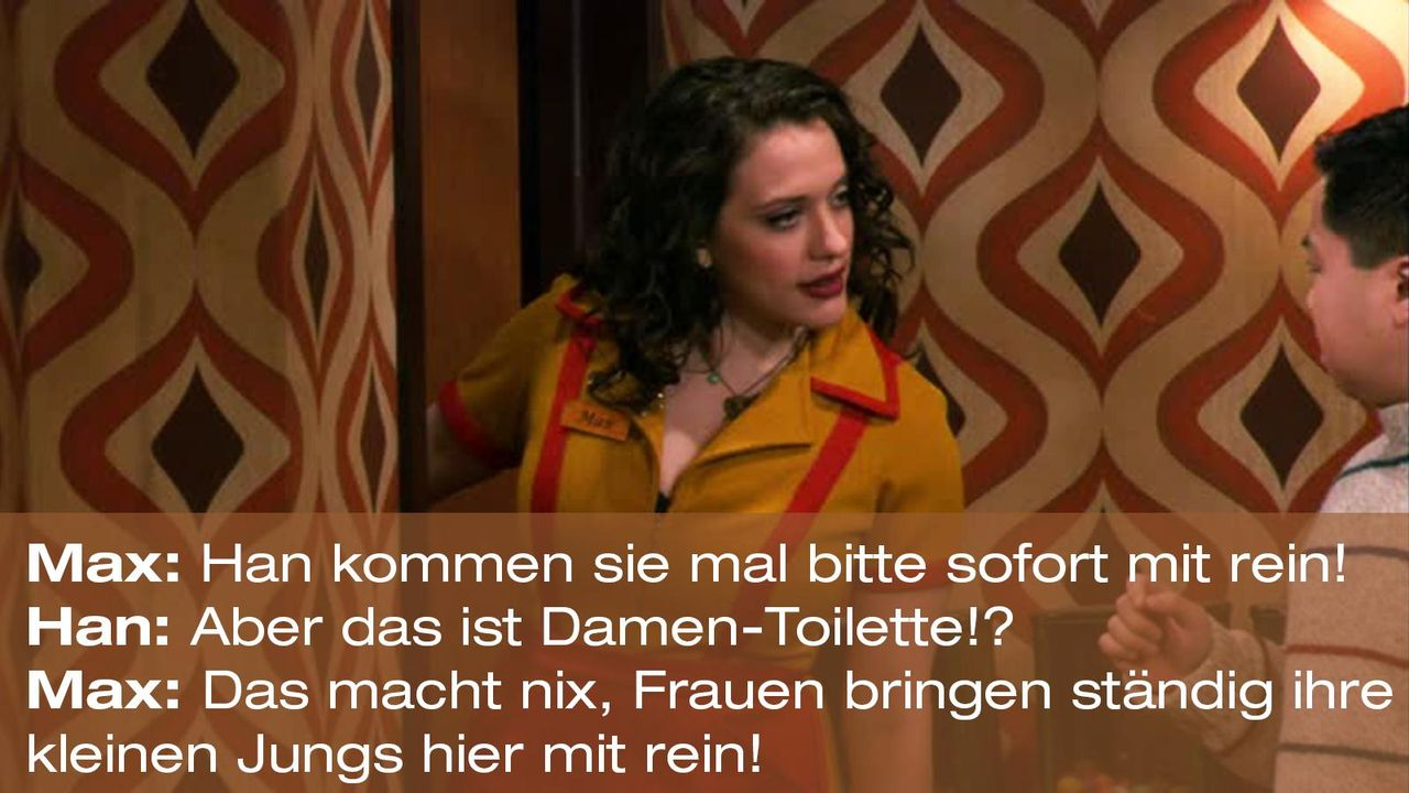 2-broke-girls-zitate-staffel1-episode-13-geheime-zutat-max-toilette-warnerpng 1600 x 900 - Bildquelle: Warner Brothers Entertainment Inc.