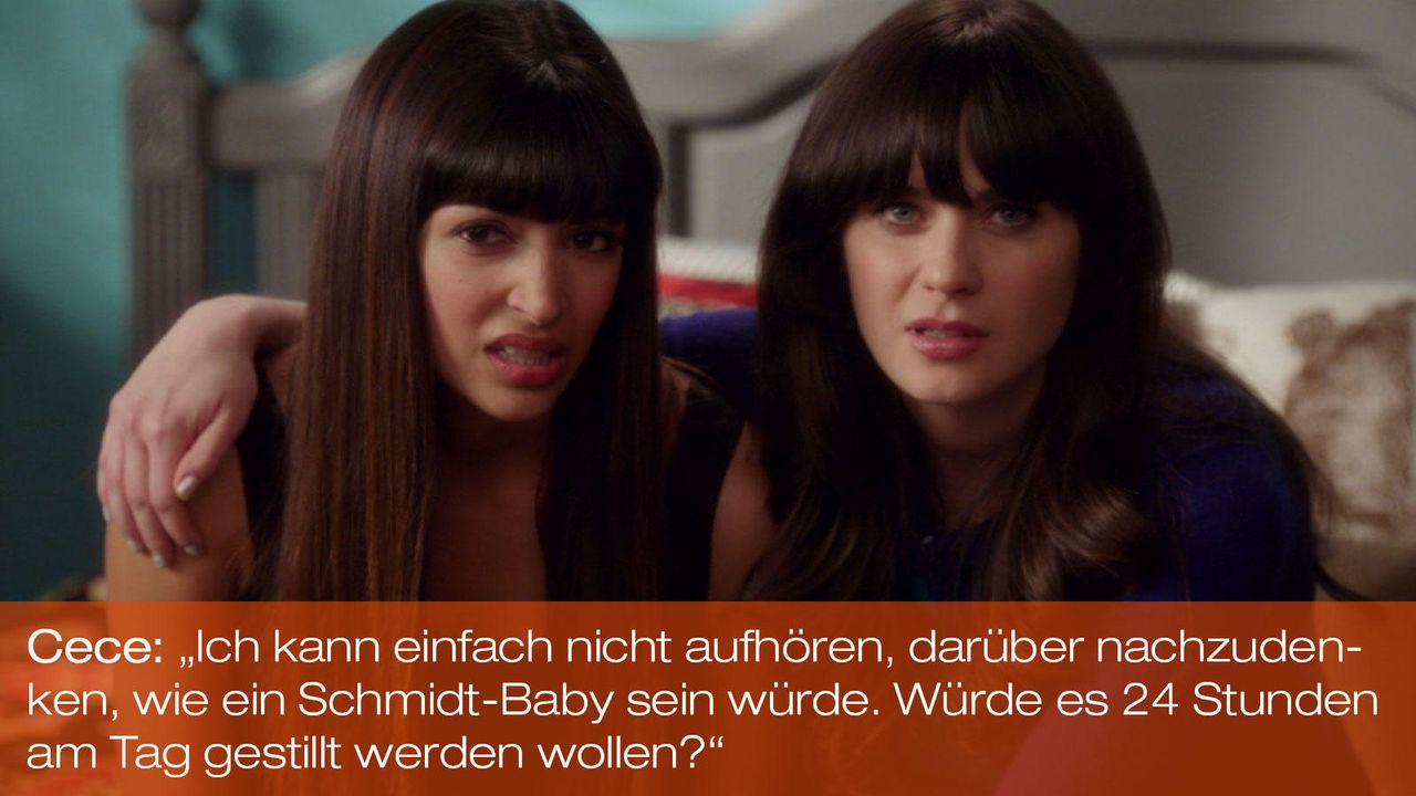 New Girl - Zitate - Staffel 1 Folge 21 - Cece (Hannah Simone), Jess (Zooey Deschanel) - Bildquelle: 20th Century Fox