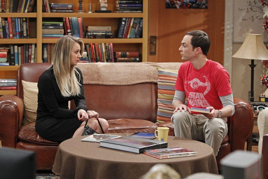 Während Penny (Kaley Cuoco, l.) an der Trauerfeier von Professor Proton teilnimmt, kommt Sheldon (Jim Parsons, r.) mit dessen Tod kaum zurecht ... - Bildquelle: Warner Brothers