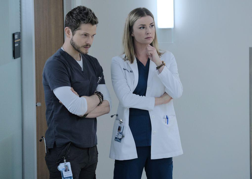 Dr. Conrad Hawkins (Matt Czuchry, l.); Nicolette Nevin (Emily VanCamp, r.) - Bildquelle: Guy D'Alema 2019-2020 Twentieth Century Fox Film Corporation.  All rights reserved. / Guy D'Alema
