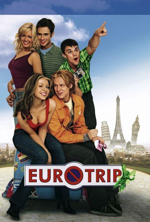 EuroTrip - Plakatmotiv (mit (v.l.n.r.) Jessica Böhrs, Michelle Trachtenberg, Scott Mechlowicz, Jacob Pitts und Travis Wester) - Bildquelle: DreamWorks Distribution LLC