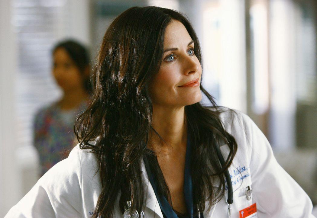 Während Dr. Maddox (Courteney Cox), der Ersatz für Dr. Kelso, die Dinge im Krankenhaus gleich mal kräftig aufmischt, hat J.D. hat ganz andere Pro... - Bildquelle: Touchstone Television