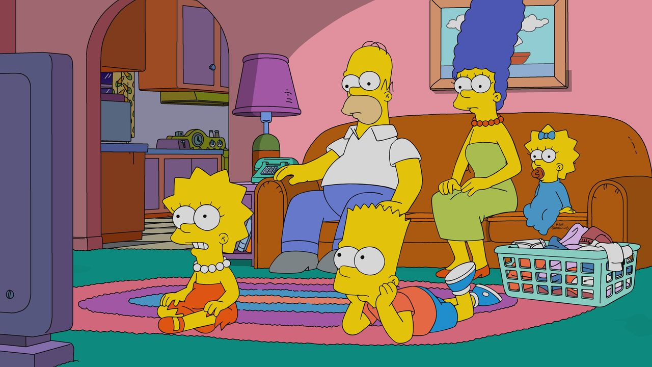 (v.l.n.r.) Lisa; Homer; Bart; Marge; Maggie - Bildquelle: 2019-2020 Twentieth Century Fox Film Corporation.  All rights reserved.