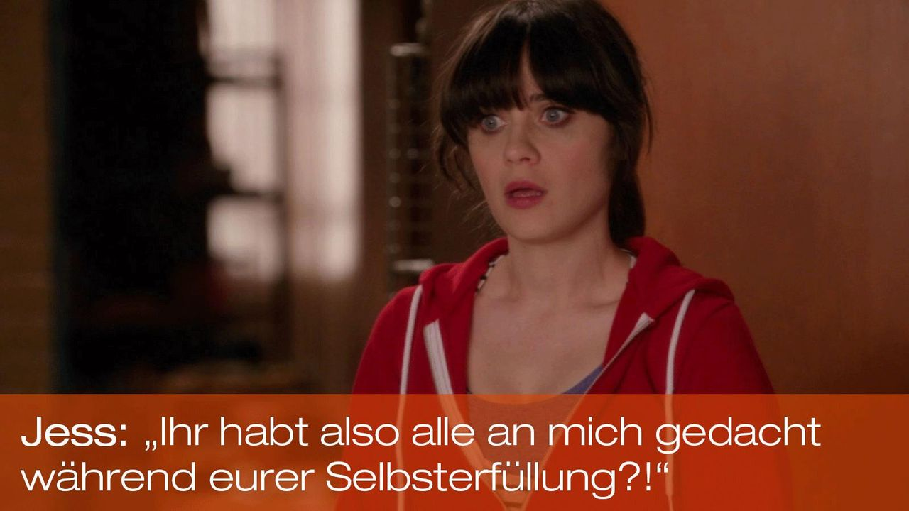 New Girl - Zitate - Staffel 1 Folge 19 - Jess (Zooey Deschanel) 1600 x 900 - Bildquelle: 20th Century Fox
