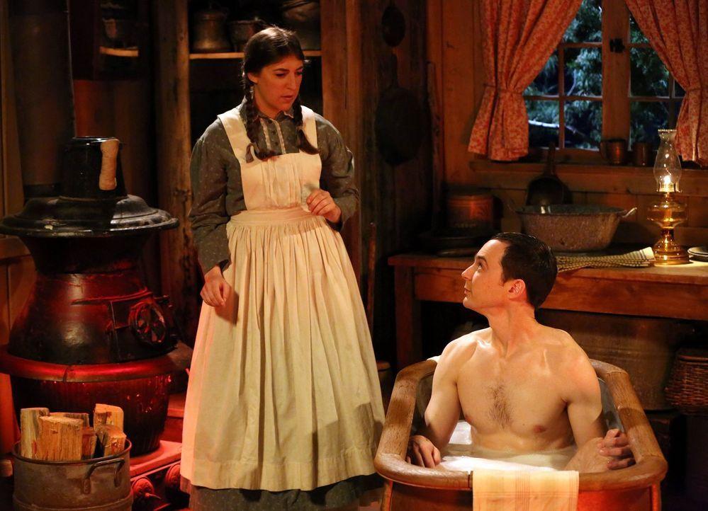 Ein Geheimnis von Amy (Mayim Bialik, l.) über ihre Wünsche mit Sheldon (Jim Parsons, r.) kommt bei einem Mädchenabend ans Tageslicht ... - Bildquelle: Warner Bros. Television
