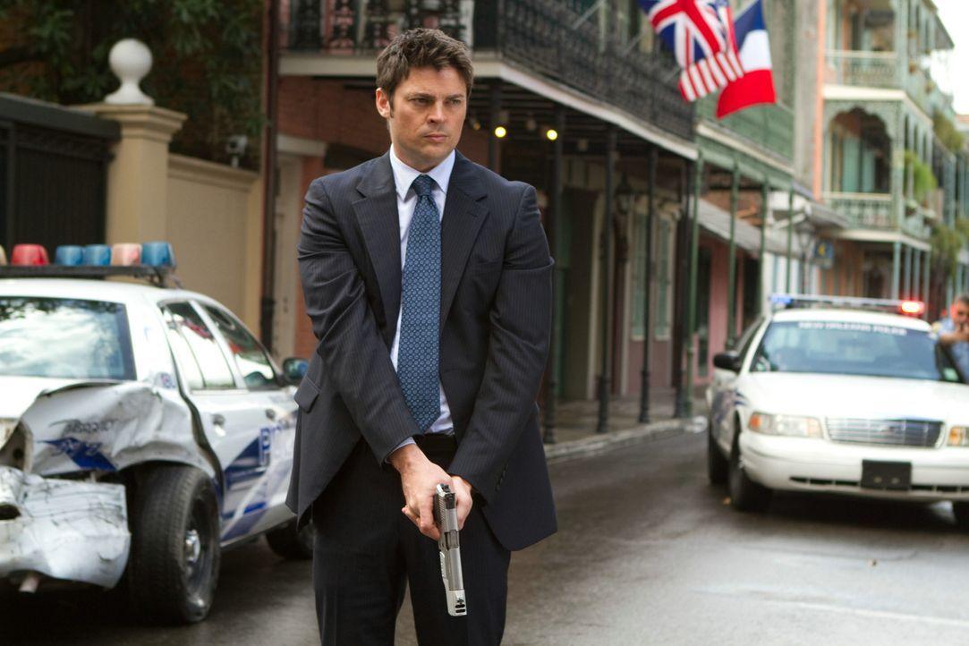 Beinahe zu spät erkennt CIA Agent William Cooper (Karl Urban), dass seine Ex-Kollegen nicht die Drahtzieher der Morde sind ... - Bildquelle: 2010 Concorde Filmverleih GmbH