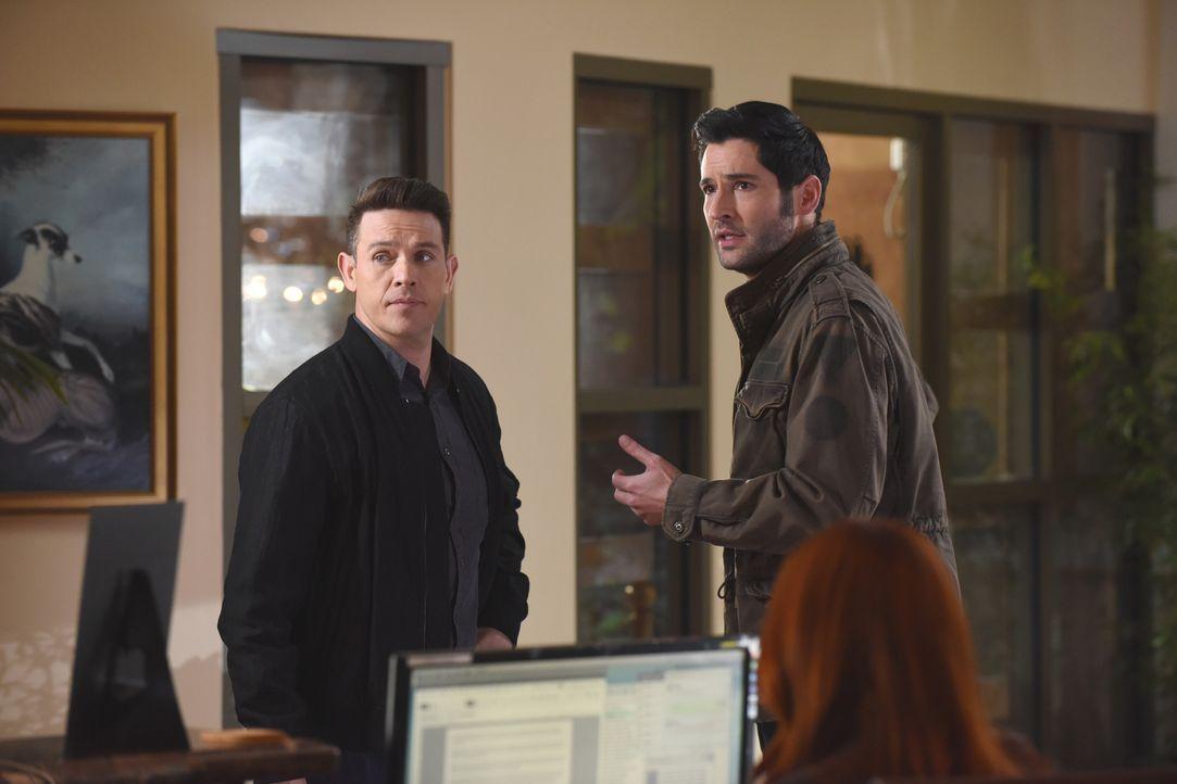 Dan (Kevin Alejandro, l.); Lucifer (Tom Ellis, r.) - Bildquelle: 2017 Fox Broadcasting Co.