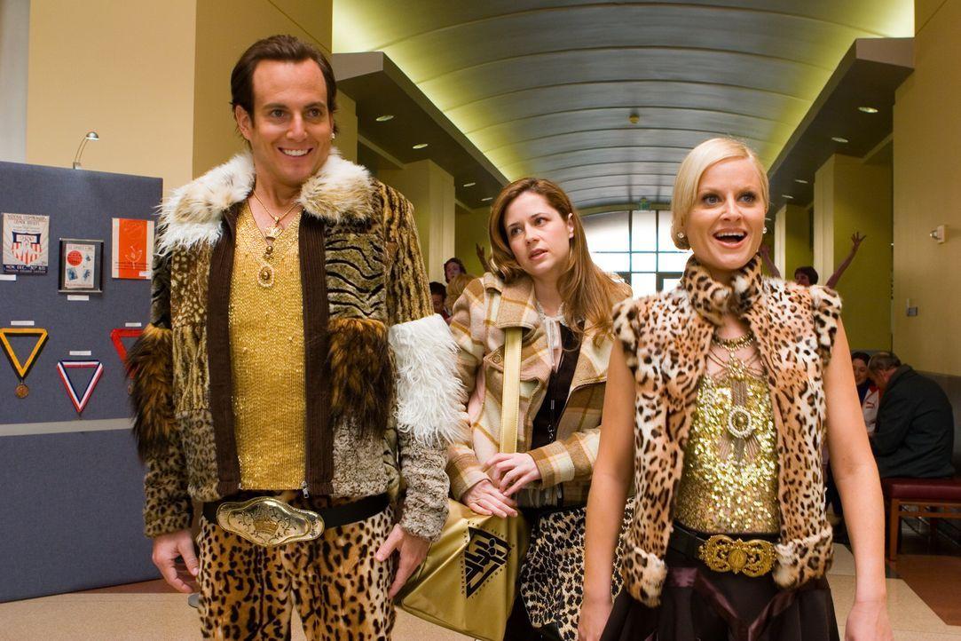 Das Eiskunstlaufpaar Van Waldenberg (vorne, v.l.n.r.: Will Arnett, Amy Poehler) und ihre Schwester (Jenna Fischer, hinten) schrecken vor nichts zur - Bildquelle: 2007 DREAMWORKS LLC. All Rights Reserved.