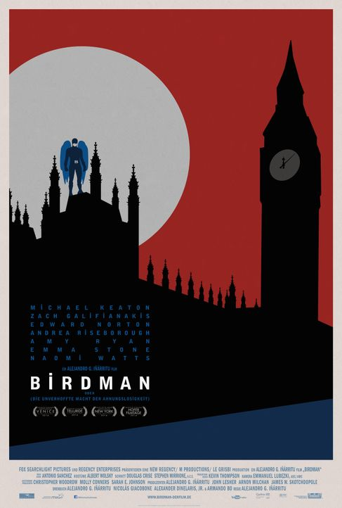 Birdman-Plakat-London-20th-Century-Fox - Bildquelle: TWENTIETH CENTURY FOX