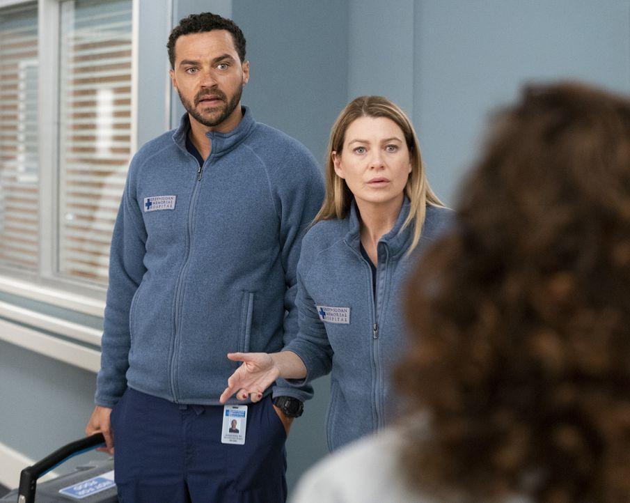Dr. Jackson Avery (Jesse Williams, l.); Dr. Meredith Grey (Ellen Pompeo, r.) - Bildquelle: Mitch Haaseth ABC Studios