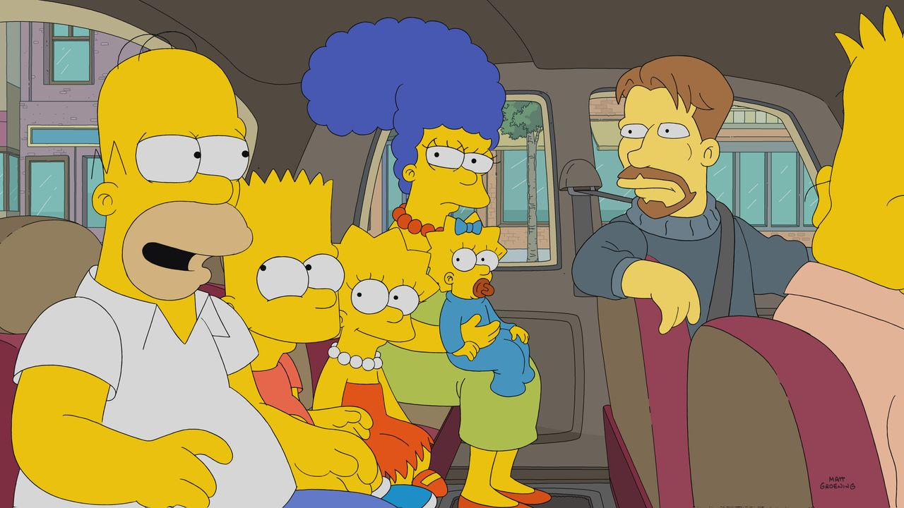 (v.l.n.r.) Homer; Bart; Lisa; Marge; Maggie; Søren - Bildquelle: 2017-2018 Fox and its related entities. All rights reserved.