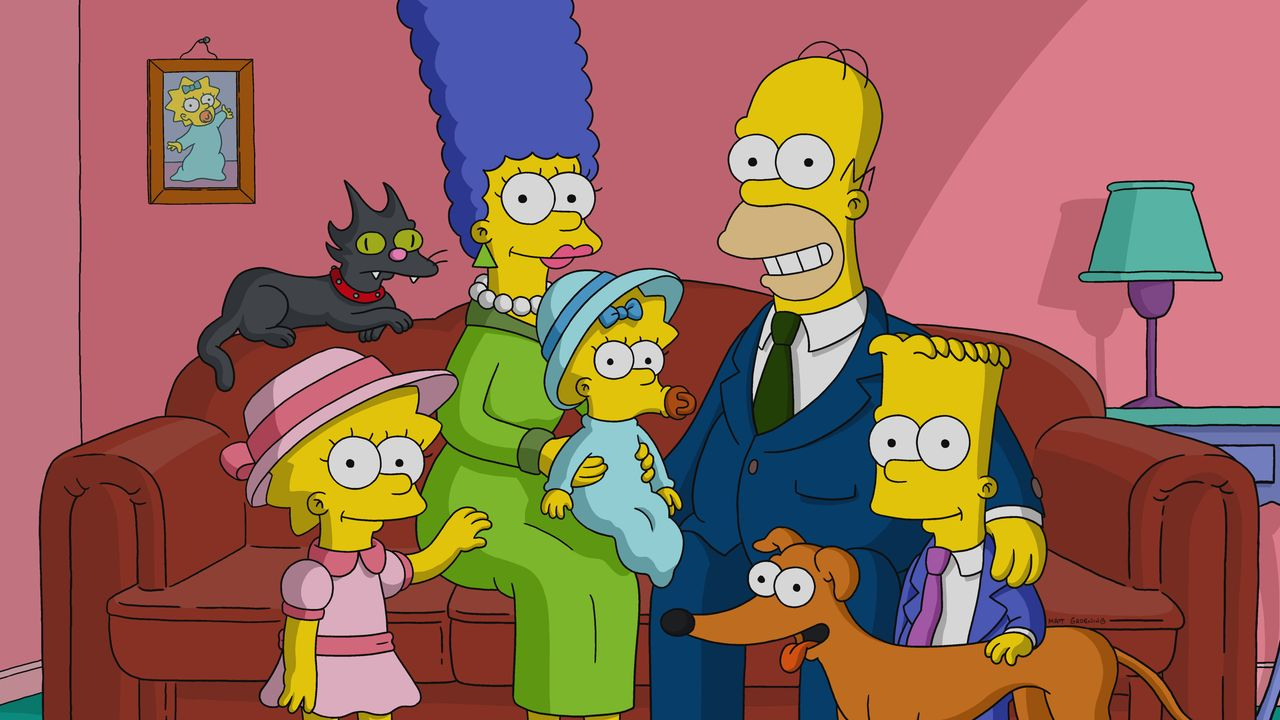 (v.l.n.r.) Lisa; Marge; Maggie; Homer; Bart - Bildquelle: 2018-2019 Fox and its related entities.  All rights reserved.