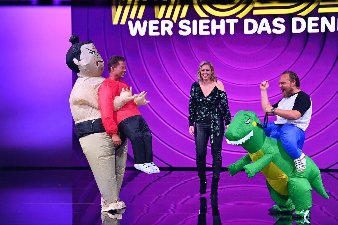 (v.l.n.r.) Til Schweiger; Ruth Moschner; Axel Stein - Bildquelle: Willi Weber ProSieben / Willi Weber