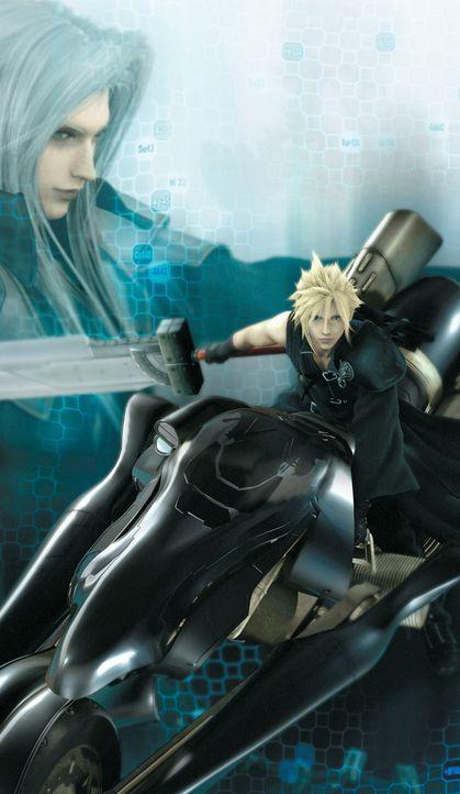 2 Jahre sind vergangen, seit Cloud (r.) den Bösewicht Sephiroth (l.) geschlagen und den Bewohnern Gaias ihren Frieden zurückgegeben hat. Doch es k... - Bildquelle: 2005 Square Enix Co., LTD. All Rights Reserved.