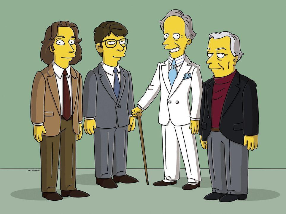 Moe'N'A Lisa: (v.l.n.r.) Michael Chabon, Jonathan Franzen, Tom Wolfe und Gore Vidal ... - Bildquelle: 2007FOX BROADCASTING