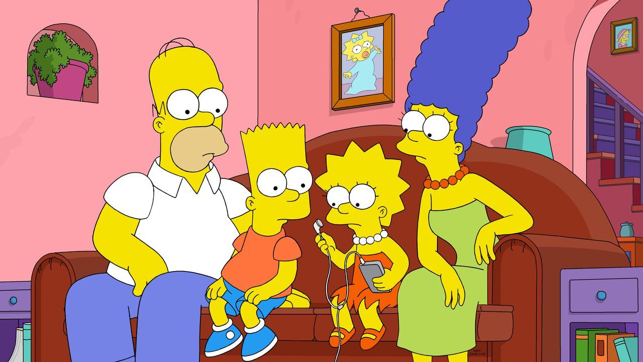 (v.l.n.r.) Homer; Bart; Lisa; Marge - Bildquelle: 2020 by Twentieth Century Fox Film Corporation.