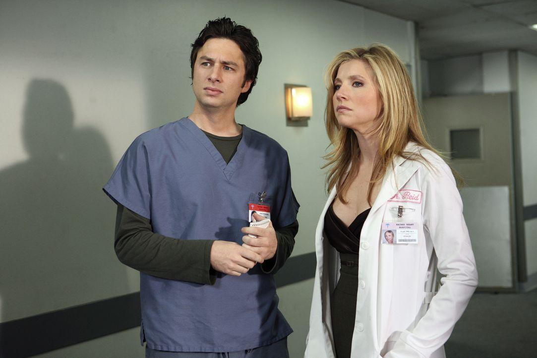 Die Freundschaft von J.D. (Zach Braff, l.) und Elliott (Sarah Chalke, r.) wird auf eine harte Probe gestellt ... - Bildquelle: Touchstone Television