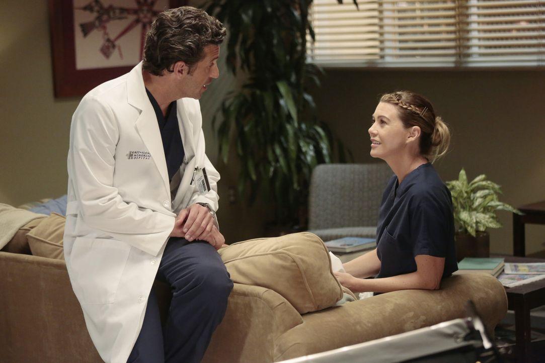 Dereks (Patrick Dempsey, l.) Entscheidung, bei ihr und den Kindern zu bleiben, nagt immer noch an Meredith (Ellen Pompeo, r.). Wird sie unter dem Dr... - Bildquelle: ABC Studios