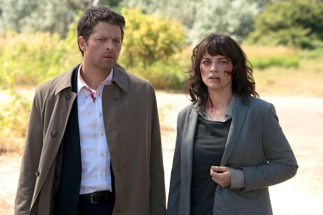 Hannah (Erica Carroll, r.) entwickelt menschliche Gefühle für Castiel (Misha Collins, l.), doch wird er diese erwidern können? - Bildquelle: 2016 Warner Brothers