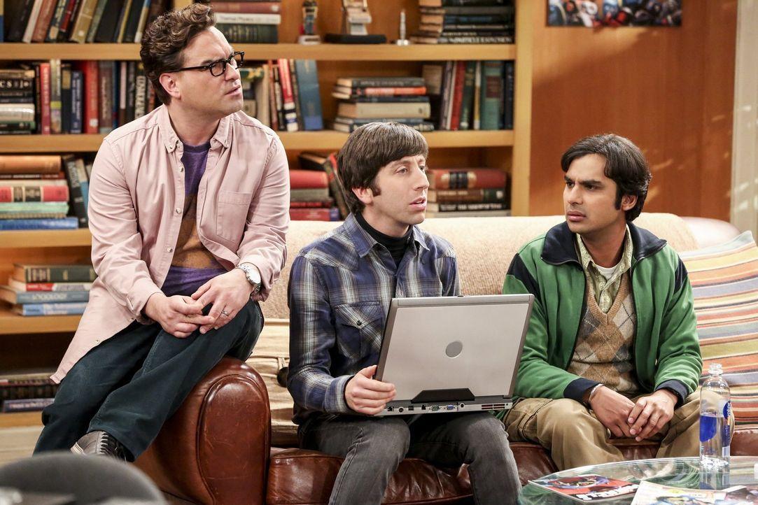 Eigentlich hatten (v.l.n.r.) Leonard (Johnny Galecki), Howard (Simon Helberg) und Raj (Kunal Nayyar) gehofft, mit ihren Bitcoins richtig reich zu we... - Bildquelle: Warner Bros. Television