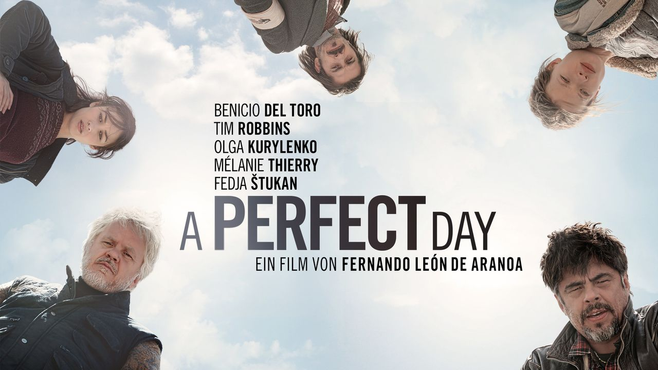A perfect day - Plakat - Bildquelle: 2015 Reposado Producciones Cinematográficas, S.L. and Mediaproducción, S.L.U. All rights reserved.