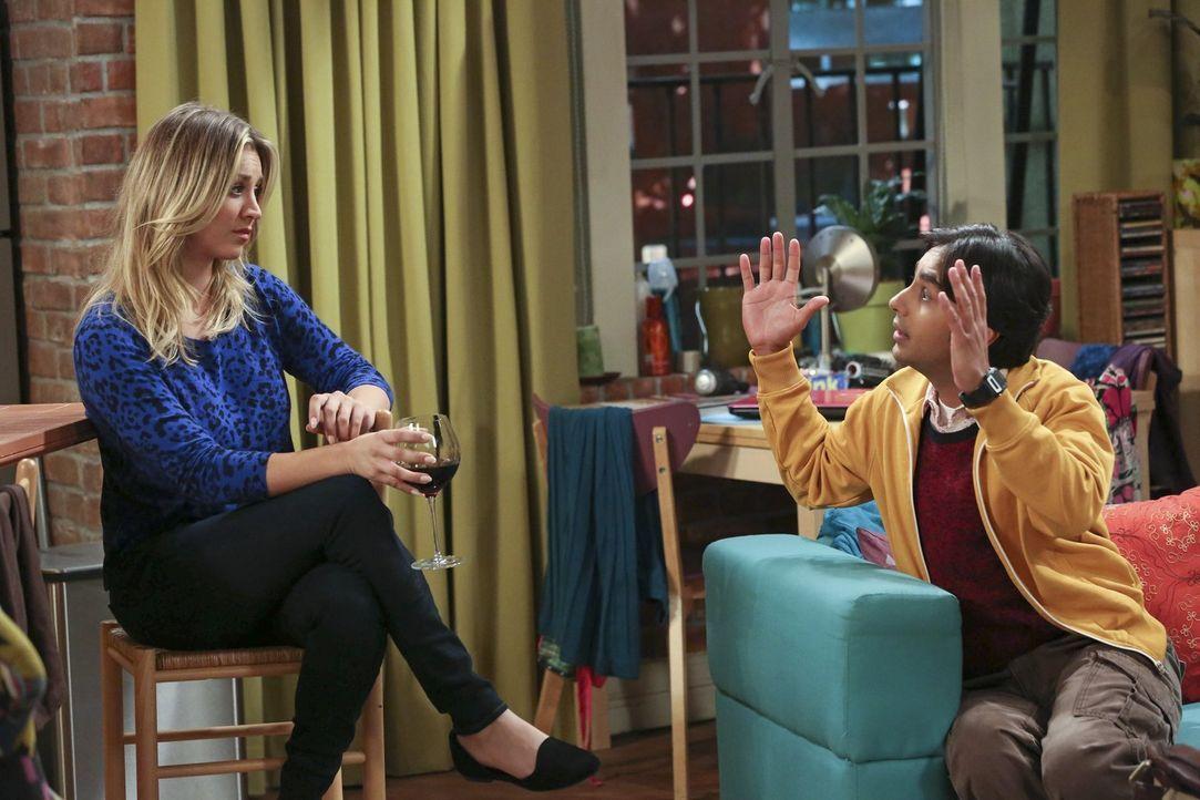 Howards romantische Geste für Bernadette bringt Penny (Kaley Cuoco, l.) dazu, sich bei Leonard mehr anzustrengen, doch sie hat keine Idee. Kann ihr... - Bildquelle: Warner Brothers Entertainment Inc.