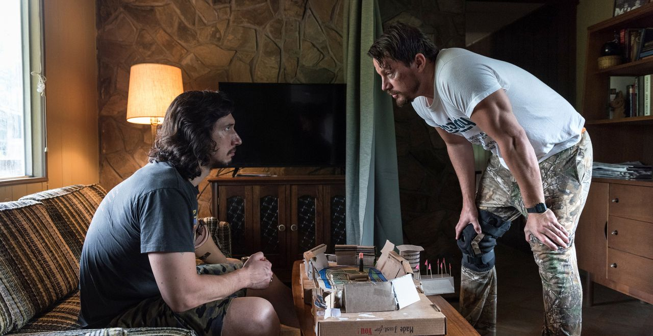 Clyde Logan (Adam Driver, r.); Jimmy Logan (Channing Tatum, r.) - Bildquelle: Claudette Barius Studiocanal GmbH/ Fingerprint Releasing. All Rights Reserved.