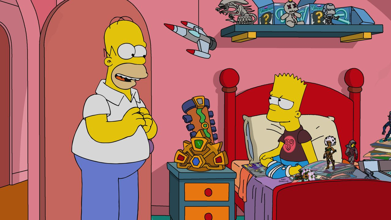 Homer (l.); Bart (r.) - Bildquelle: 2019-2020 Twentieth Century Fox Film Corporation.  All rights reserved.