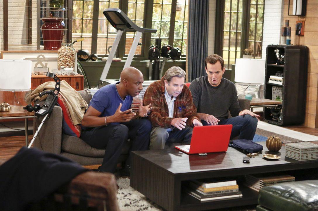 Wollen ein Wochenenden zusammen verbringen: Ray (J.B. Smoove, l.), Tom (Beau Bridges, M.) und Nathan (Will Arnett, r.) ... - Bildquelle: 2013 CBS Broadcasting, Inc. All Rights Reserved.
