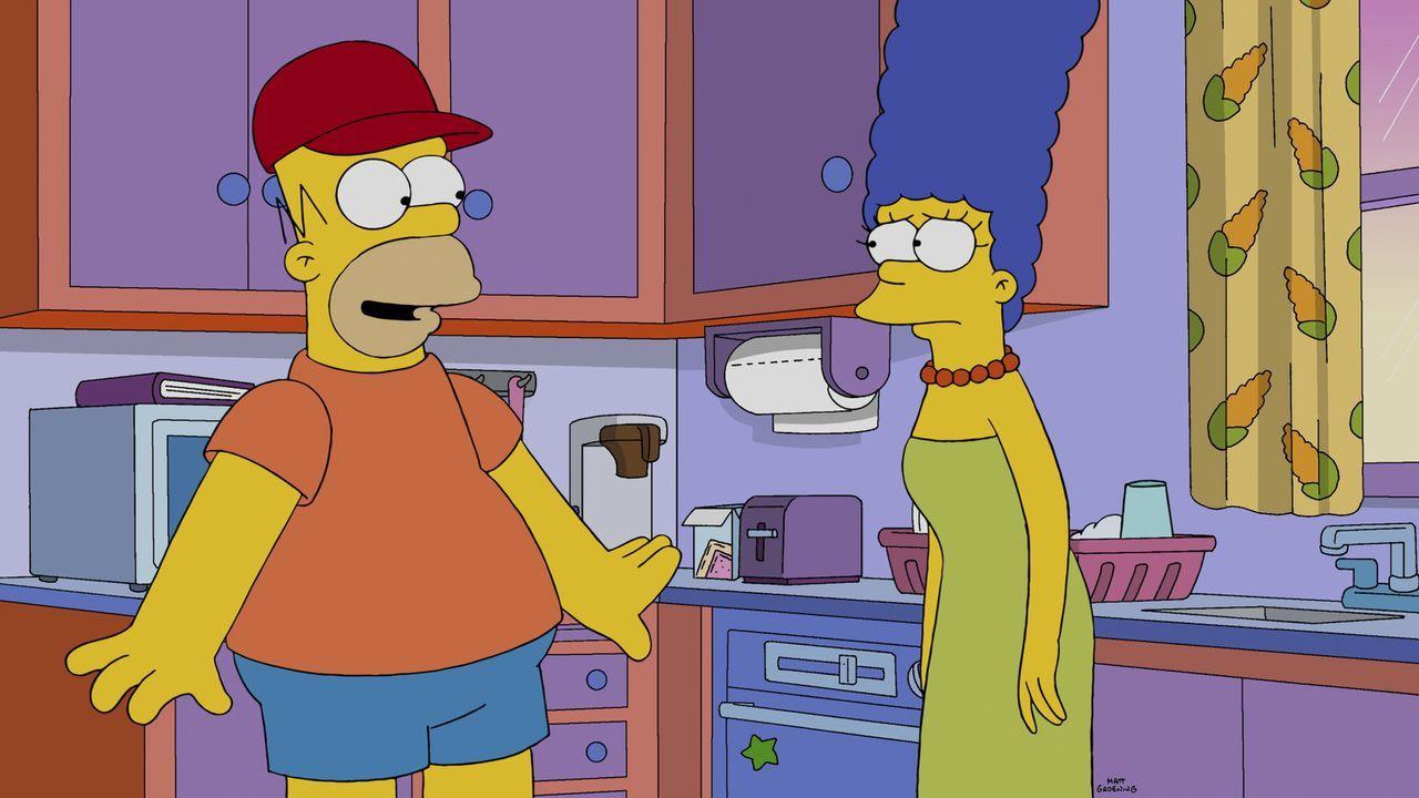 Wird Homer (l.) wieder zu Marges (r.) Ehemann werden? - Bildquelle: 2014 Twentieth Century Fox Film Corporation. All rights reserved.