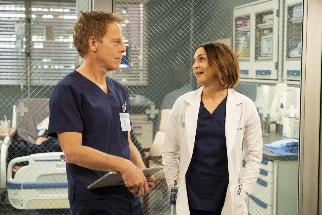 Dr. Thomas Koracick (Greg Germann, l.); Dr. Amelia Shepherd (Caterina Scorsone, r.) - Bildquelle: Jessica Brooks ABC Studios