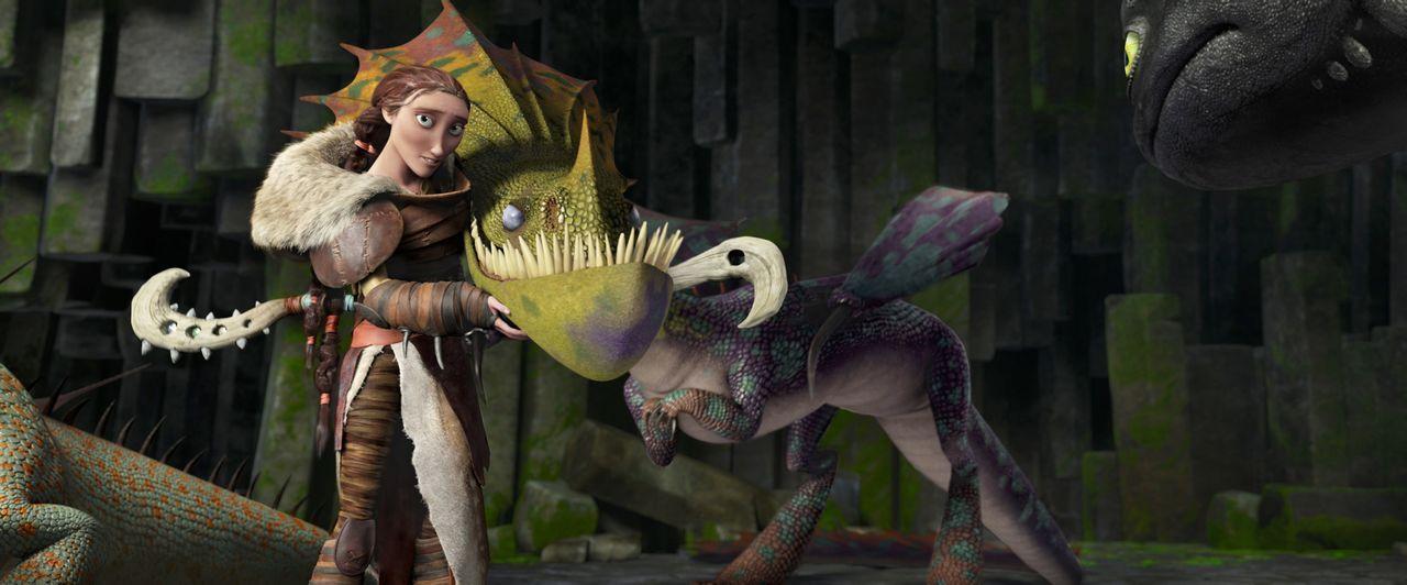 Während sich seine Freunde auf Berk ihre Zeit mit Drachenrennen vertreiben, will Hicks mit Ohnezahn neue Gebiete erforschen. Als Berk wegen einer ne... - Bildquelle: 2014 DreamWorks Animation, L.L.C.  All rights reserved.