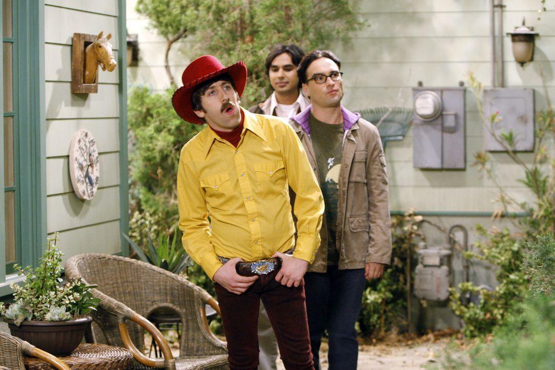 Die Freunde Leonard (Johnny Galecki, r.), Howard (Simon Helberg, l.) und Raj (Kunal Nayyar, M.) reisen nach Texas um sich bei Sheldon zu entschuldig... - Bildquelle: Warner Bros. Television