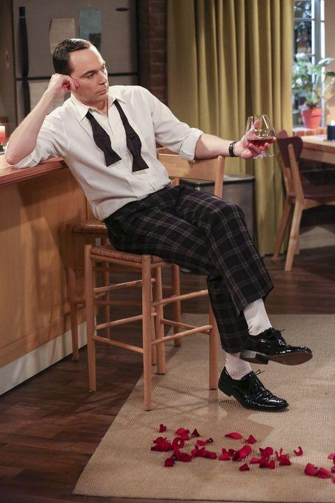 Sheldon (Jim Parsons) versucht, Amy mit Brandy und Rosenblättern davon zu überzeugen, sich fortzupflanzen. Mit Erfolg? - Bildquelle: 2016 Warner Brothers