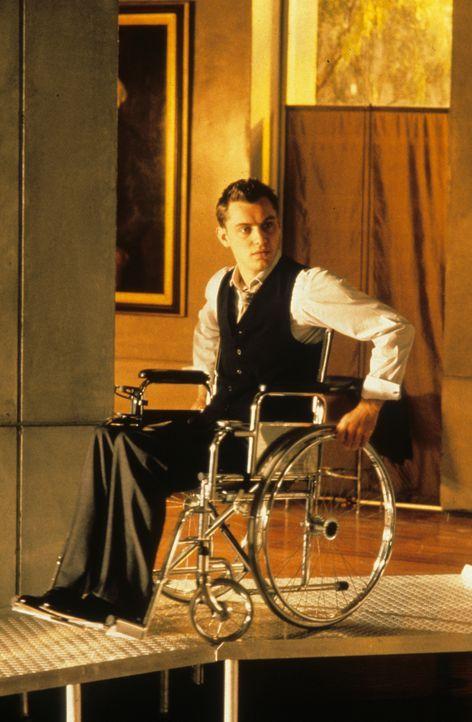 Als perfekter Mensch geplant und in der Retorte gezüchtet, doch seit einem Unfall ist Jerome Morrow (Jude Law) an den Rollstuhl gefesselt ... - Bildquelle: Columbia Pictures