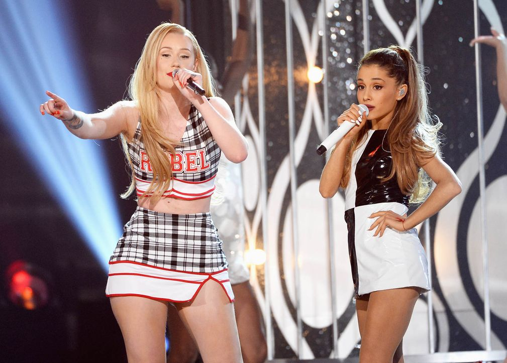 Iggy-Azalea-Ariana-Grande-14-05-18-getty-AFP - Bildquelle: getty-AFP