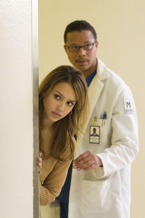 Spielen ein abgekartetes Spiel: die schein liebende Gattin Sam (Jessica Alba, l.) und der scheinbar integre Arzt Dr. Jack Harper (Terrence Howard, r... - Bildquelle: The Weinstein Company