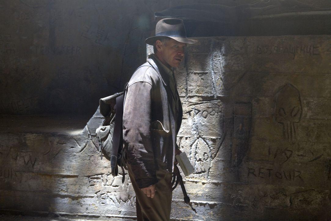 Auf der geheimnisvollen Suche nach dem Kristallschädel: Indiana Jones (Harrison Ford) ... - Bildquelle: Lucasfilm Ltd. & TM. All Rights Reserved