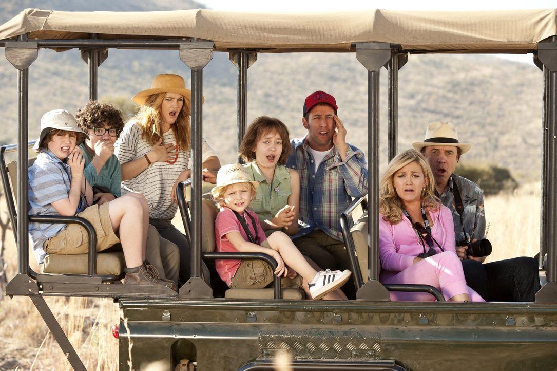 Ein Urlaub der ganz besonderen Art wartet auf (v.l.n.r.) Tyler (Kyle Red Silverstein), Brendan (Braxton Beckham), Lauren (Drew Barrymore), Lou (Alyv... - Bildquelle: Warner Brothers