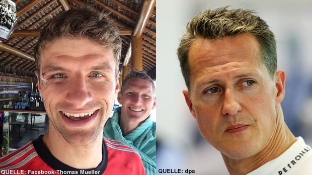 TOP Thomas Mueller FLOP Michael Schumacher - Bildquelle: Facebook-Thomas Mueller     /     dpa