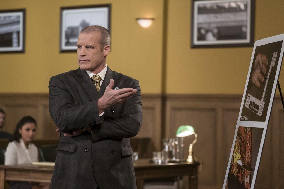 Gelingt es dem Anwalt Anton Slater (Mark Valley) tatsächlich, die Jury von Barrys Schuld zu überzeugen und bringt den unschuldigen Mann damit hinter... - Bildquelle: 2017 Warner Bros.