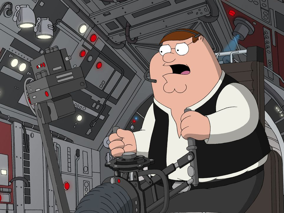 "Möge die Macht mit ""Family Guy"" sein, der Griffin-Clan dreht die größte Science-Fiction-Saga aller Zeiten durch die Mangel: Peter als verwegener... - Bildquelle: TM +   Twentieth Century Fox Film Corporation. All Rights Reserved."