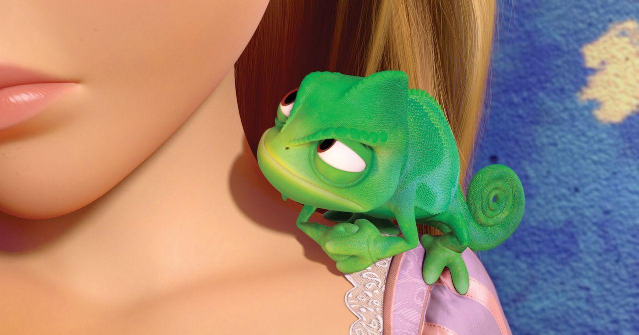 Rapunzels steter Begleiter, der sicherstellt, dass dem schönen Mädchen nichts passiert: Chamäleon Pascal ... - Bildquelle: Disney.  All rights reserved
