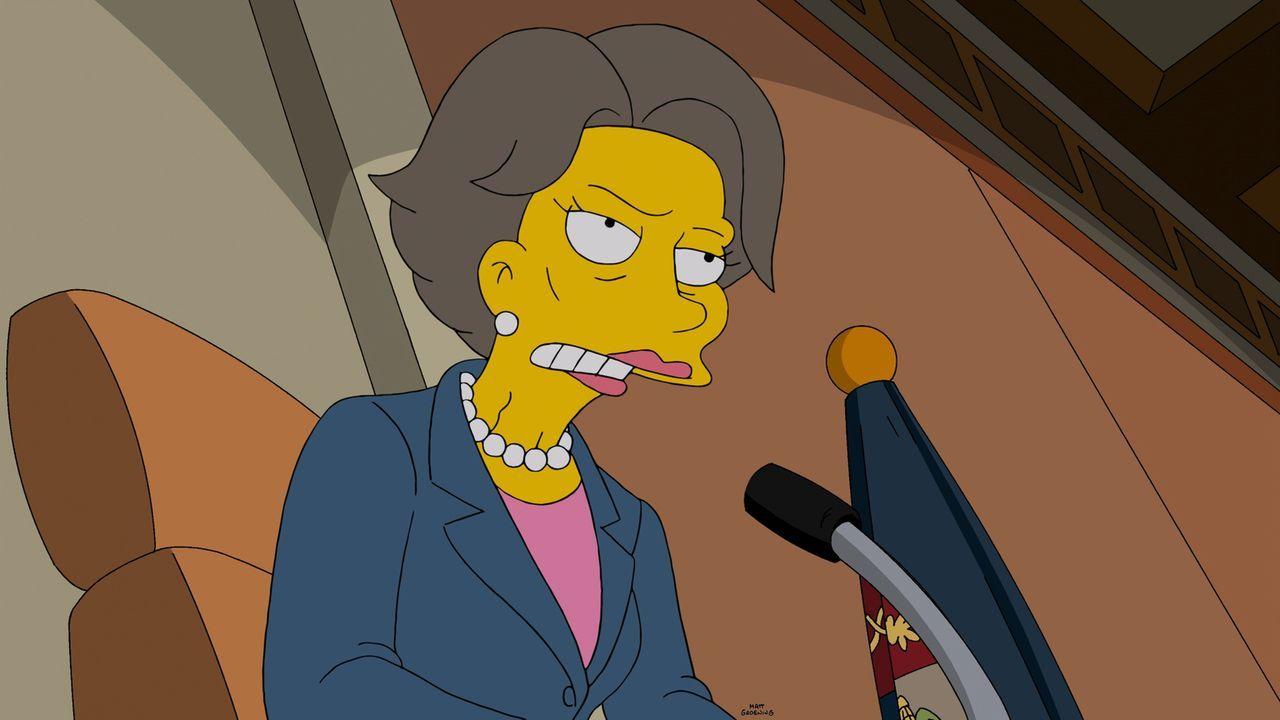 Die Abgeordnete Maxine hat ein großes Problem mit Fracking - sehr zur Freude von Lisa ... - Bildquelle: 2014 Twentieth Century Fox Film Corporation. All rights reserved.