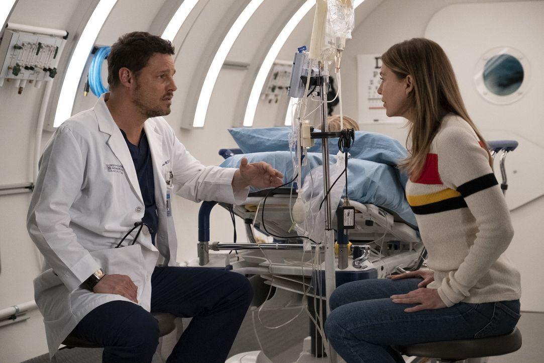 Dr. Alex Karev (Justin Chambers, l.); Dr. Meredith Grey (Ellen Pompeo, r.) - Bildquelle: Tony Rivetti ABC Studios / Tony Rivetti