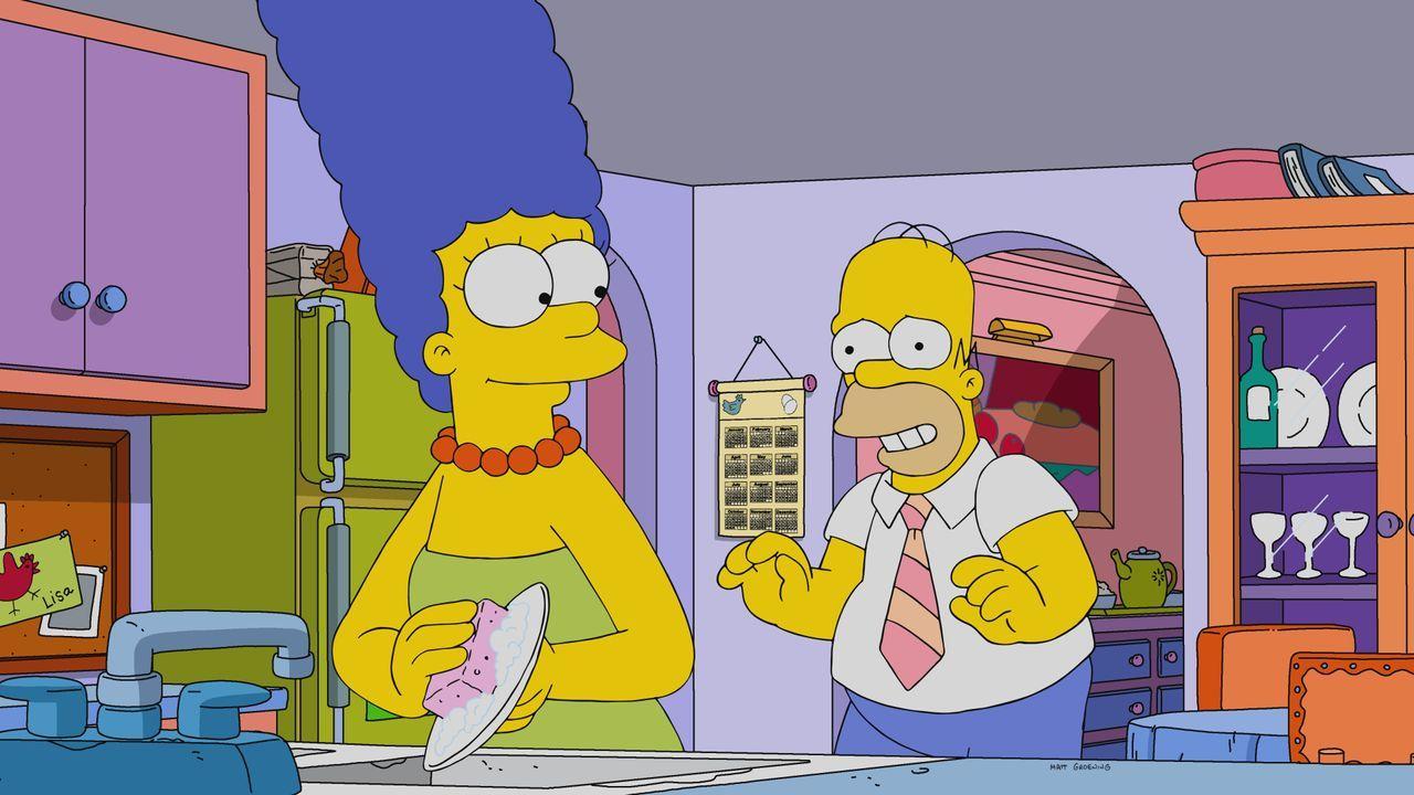 Marge (l.); Homer (r.) - Bildquelle: 2021 by 20th Television.