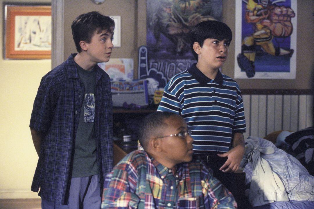 Malcolm (Frankie Muniz, l.), Dabney (Kyle Sullivan, r.) und Stevie (Craig Lamar Traylor, M.) verschlägt es fast die Sprache ... - Bildquelle: TM +   2000 Twentieth Century Fox Film Corporation. All Rights Reserved.