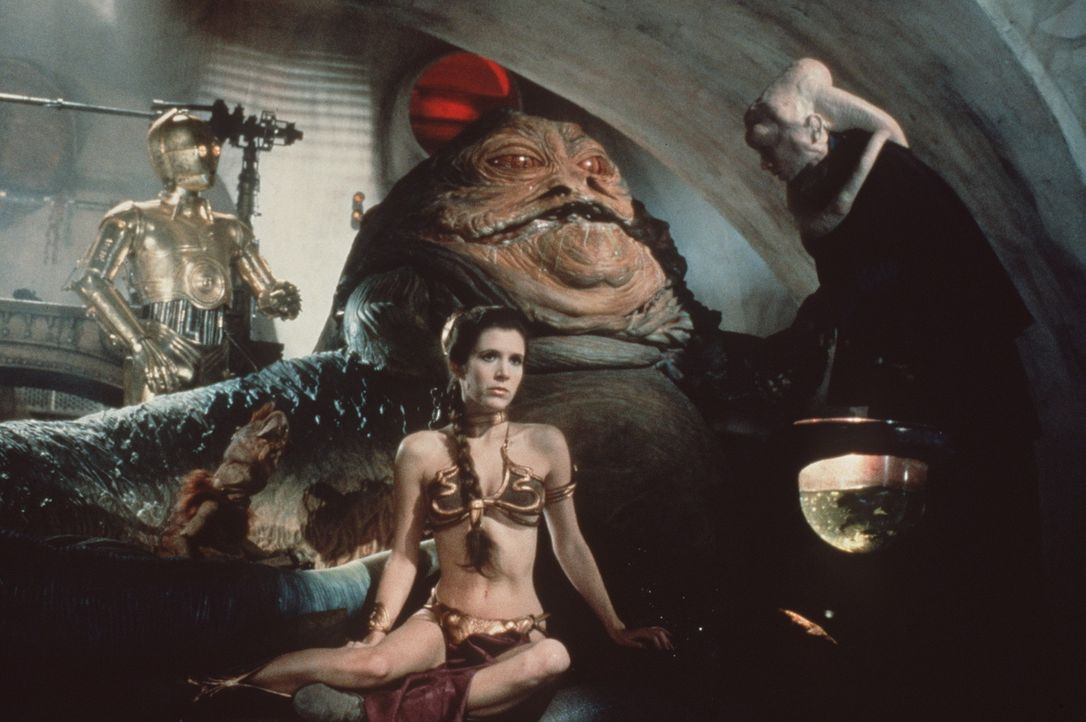 Prinzessin Leia (Carrie Fisher) gerät in die Gefangenschaft von Jabba the Hutt ... - Bildquelle: Lucasfilm LTD. & TM. All Rights Reserved.